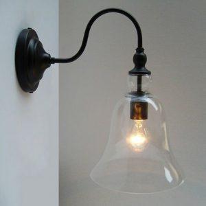 Lillium 1-light Clear Glass Edison Wall Lamp with Bulb