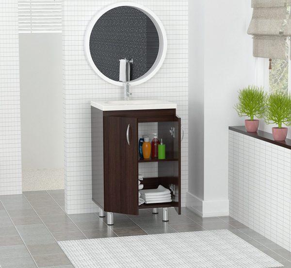 """34"""" Espresso Solid Composite Wood Vanity with Folding Doors"""