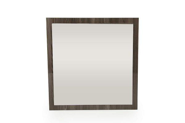 "41"" Grey MDF, Veneer, and Glass Mirror"