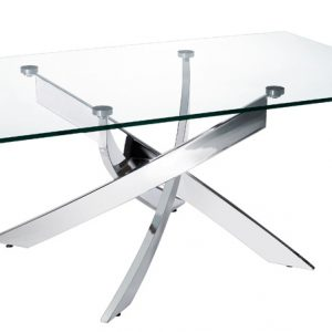 """18"""" Steel and Glass Coffee Table"""