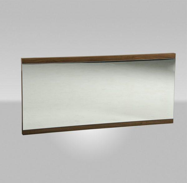 "24"" Walnut Veneer and Glass Mirror"