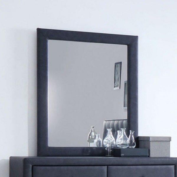 "28"" X 36"" 2-Tone Gray Wooden Mirror"