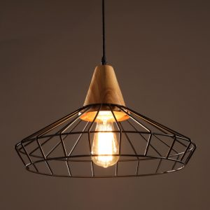 Elysian 1-light Black Edison Chandelier with Bulb