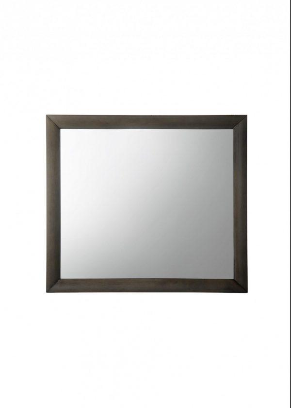 """39"""" X 35"""" Gray Oak Rubber Wood Mirror"""