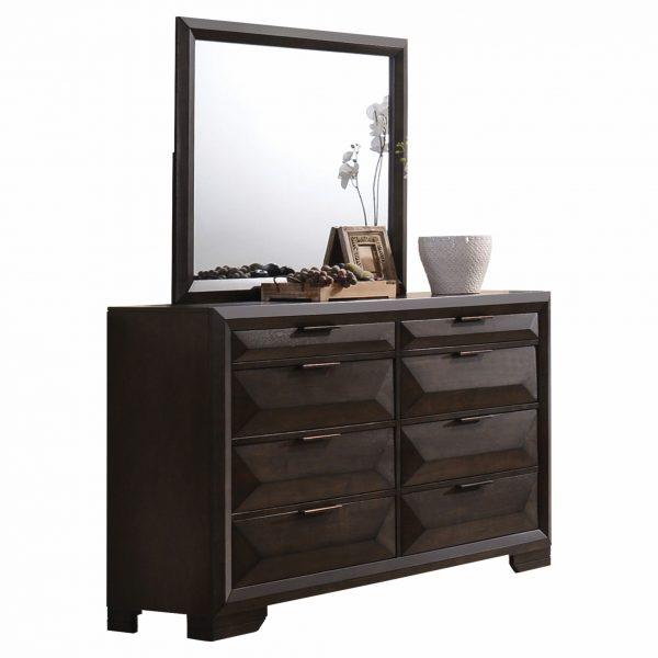 """39"""" X 35"""" Espresso Rubber Wood Mirror"""