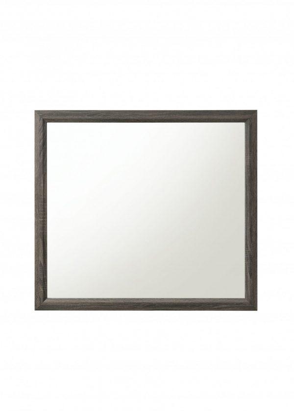 "39"" X 35"" Weathered Gray Paper Veneer Mirror"
