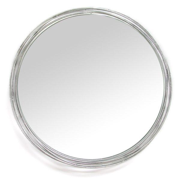 """29.25"""" X 2.5"""" X 29.25"""" Silver Statement Wall Mirror"""