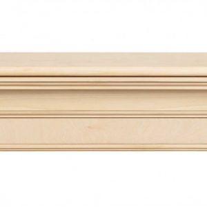 """60"""" Elegant Unfinished Wood Mantel Shelf"""