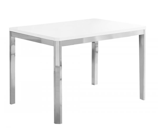 """31.5"""" x 47.5"""" x 30"""" White, Particle Board, Metal - Dining Table"""