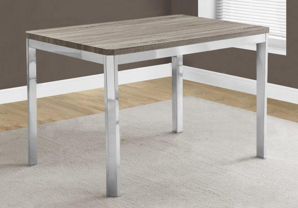 """31.5"""" x 47.5"""" x 30"""" Dark Taupe, Hollow-Core, Particle Board, Metal - Dining Table"""
