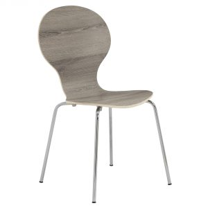 """63.75"""" x 53.25"""" x 102"""" Dark Taupe, Metal - 4pcs Dining Chairs With Chrome Legs"""