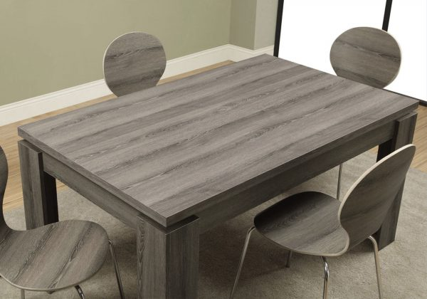 """35.5"""" x 59"""" x 30"""" Dark Taupe, Particle Board, Hollow Core and MDF - Dining Table"""