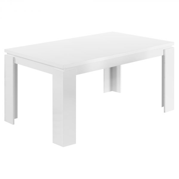 """35.5"""" x 59"""" x 30"""" White, Particle Board, Hollow Core and MDF - Dining Table"""