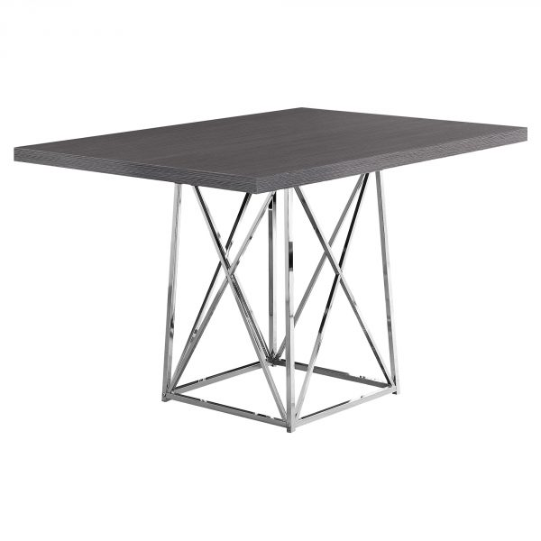 """36"""" x 48"""" 31"""" Grey, Particle Board ad Chrome Metal - Dining Table"""