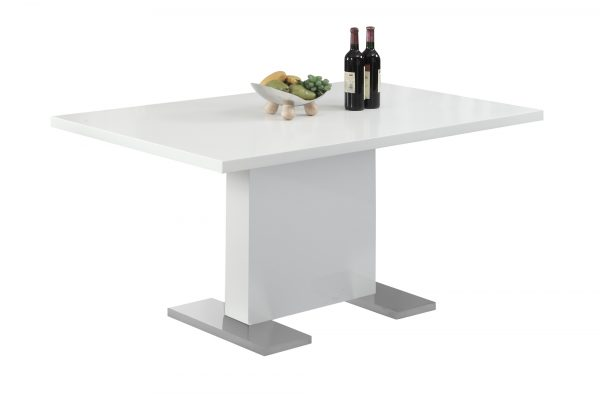 """35.5"""" x 59"""" x 30"""" White, Metal - Dining Table"""