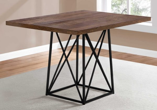 """36"""" x 48"""" 31"""" Brown/Black, Reclaimed Wood, Particle Board and Metal - Dining Table"""