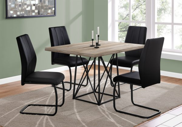 """36"""" x 48"""" x 31"""" Dark Taupe, Particle Board, Metal - Dining Table"""