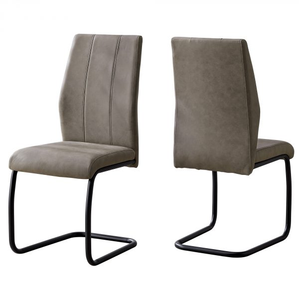 """40.5"""" x 34.5"""" x 77.5"""" Taupe, Black, Foam, Metal, Polyester - Dining Chairs 2pcs"""