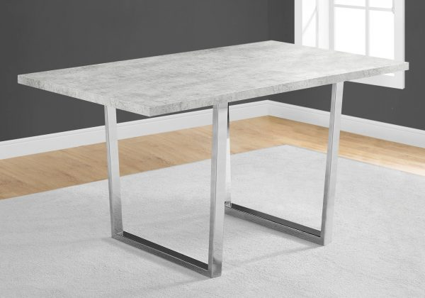 """35.5"""" x 59"""" x 30.25"""" Grey, Particle Board, Metal - Dining Table"""