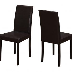 """44.5"""" x 35.5"""" x 72"""" Cappuccino, Foam, Solid Wood, Leather-Look - Dining Chairs 2pcs"""