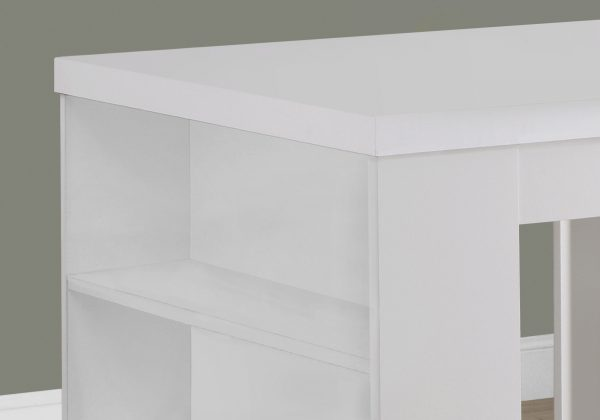 """30"""" White Particle Board, Hollow Core, and MDF Counter Height Dining Table"""