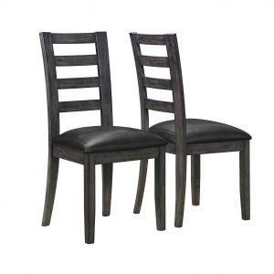 "21"" x 20"" x 39"" Dark Grey, - Dining Chairs 2pcs"