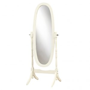 """20"""" x 23"""" 59"""" Antique, Oval Wood Frame - Mirror"""