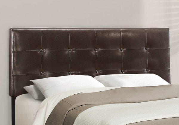 """64.25"""" x 85.25"""" x 45"""" Brown Linen - Queen Size Bed"""