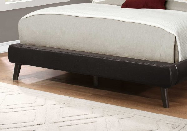 """70.25"""" x 87.25"""" x 47.25"""" Brown, Foam, Solid Wood, Leather-Look - Queen Size Bed"""