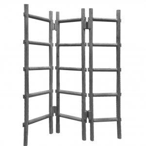 "54"" x 1.5"" x 59"" Gray, Wood, Blanket, Rack - Screen"
