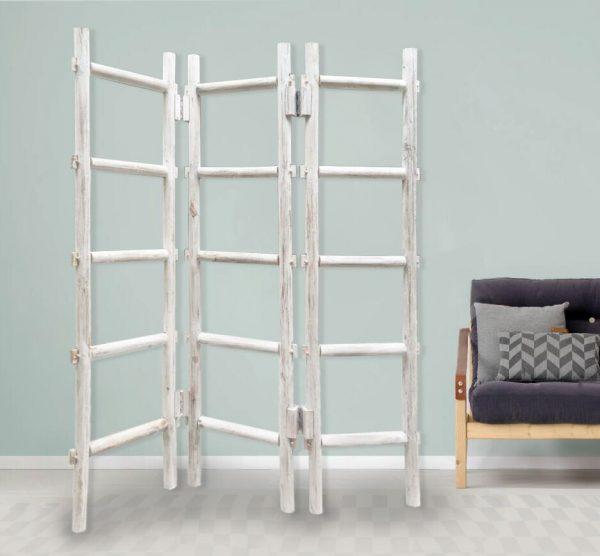 """54"""" x 1.5"""" x 59"""" White, Wood, Blanket, Rack - Screen"""