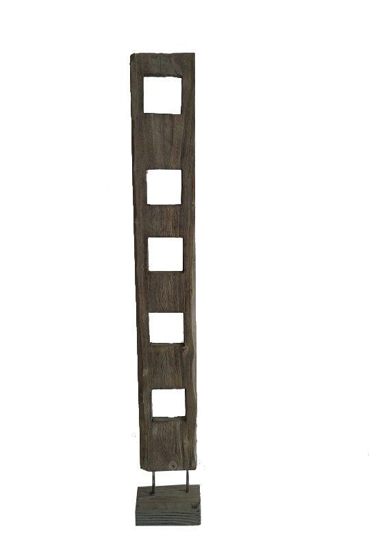 "10"" x 7"" x 70"" Weathered Brown, Organic Wood - Sculpture (Set of 2)"