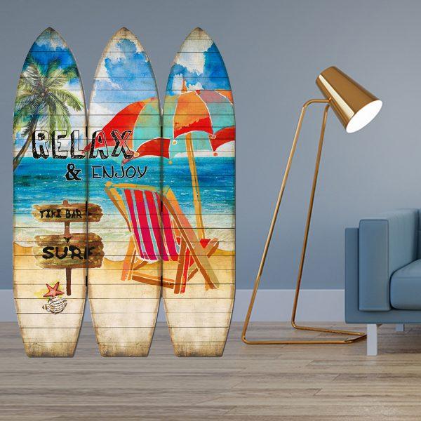 "47"" x 1"" x 71"" Multicolor, Surfboard - Screen"