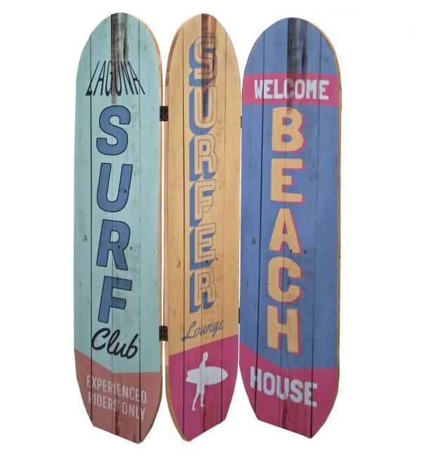"""47"""" x 1"""" x 71"""" Multicolor, Coastal, Wood, Surfboard - Screen"""