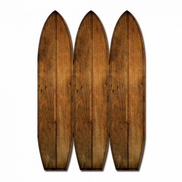 """47"""" x 1"""" x 71"""" Brown, Wood, Coastal, Surfboard - Screen"""