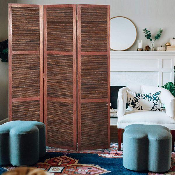 "47"" x 1.5"" x 67"" Brown, Wood, Bambusa - Screen"