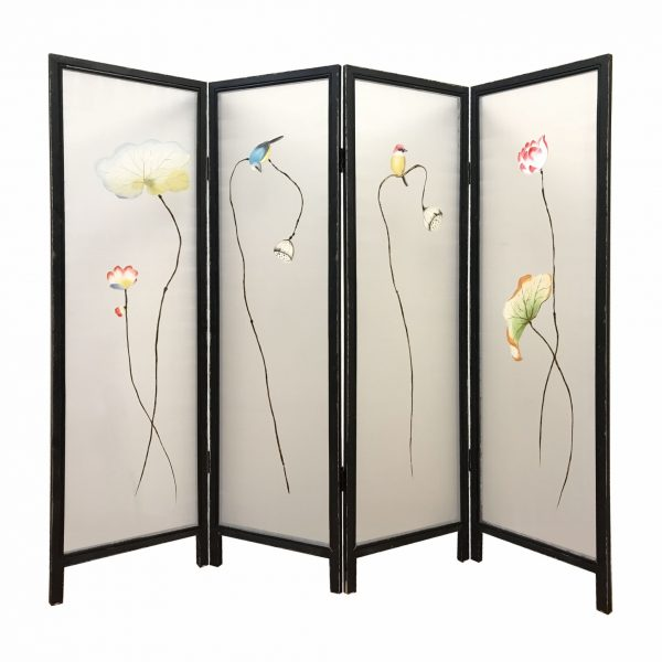 """78"""" x 1"""" x 63"""" Multicolor, Fabric And Wood, Flourshing - Screen"""