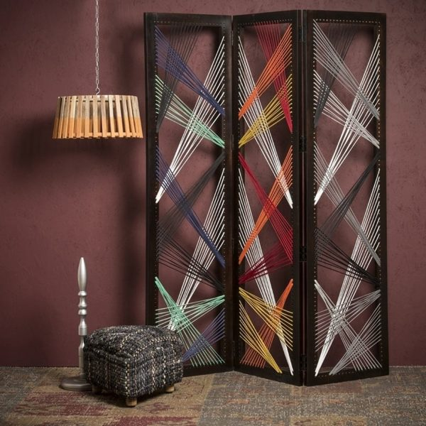 """61"""" x 1.5"""" x 72"""" Multicolor Fabric And Wood Traverse - Screen"""