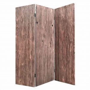 "53"" x 2"" x 71"" x 72"" Brown, Wood, Woodland - 3 Panel Screen"