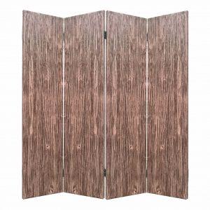 "84"" x 2"" x 84"" Brown, 4 Panel, Wood, Woodland - Screen"