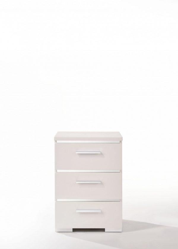 """15"""" X 18"""" X 25"""" White (High Gloss) Wood Veneer (Paper) Nightstand"""