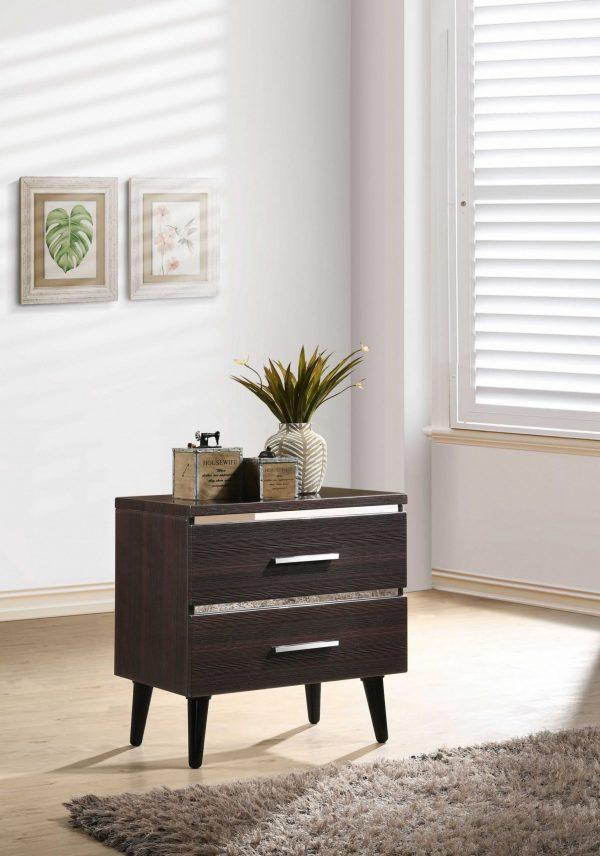 """15"""" X 22"""" X 23"""" Cherry (High Gloss) Wood Veneer (Paper) Nightstand"""