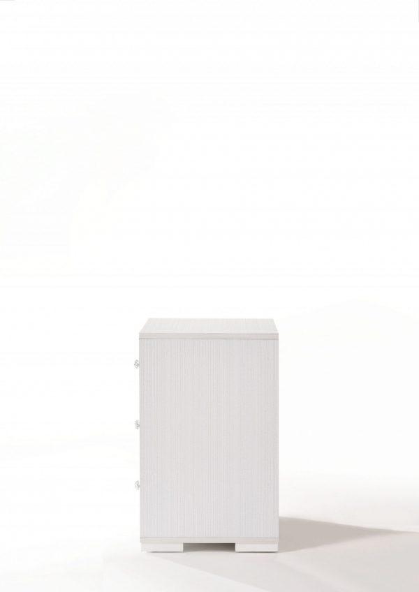 """15"""" X 18"""" X 25"""" Cream Wood Veneer (Paper) Nightstand"""