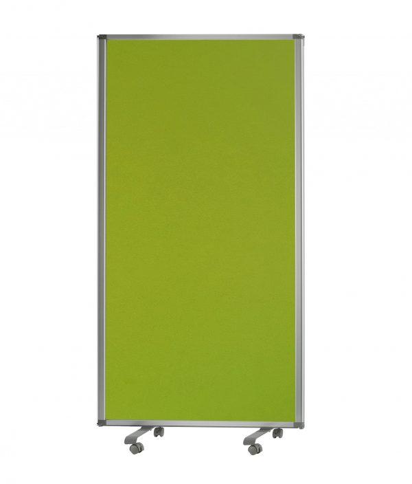 """106"""" x 1"""" x 71"""" Green, Metal and Fabric - Screen"""