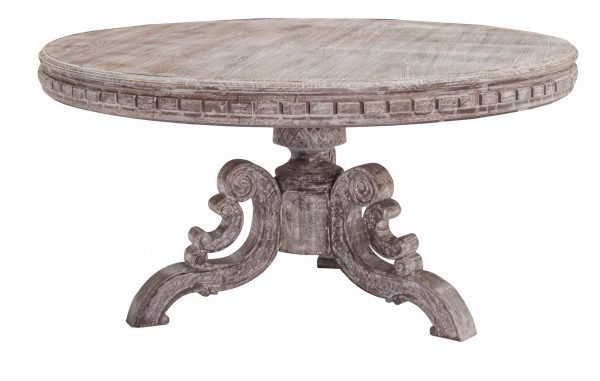 """60"""" x 60"""" x 30"""" Metal Gray Traditional Dining Table"""