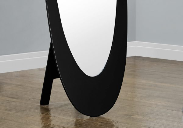 "18.5"" x 18.75"" x 59"" Black, Oval Frame - Mirror"
