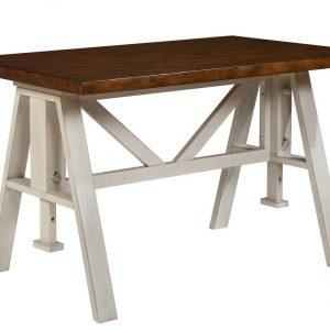 "54"" X 34"" X 36"" Sand Espresso Hardwood Dining Table"