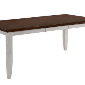 "72"" X 42"" X 30"" White Cinnamon Hardwood Dining Table"