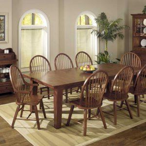 "64"" X 44"" X 30"" Tobacco Hardwood Dining Table"