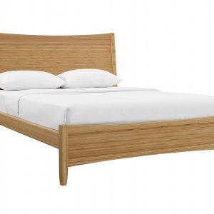 """63.8"""" x 87.1"""" x 46"""" Queen Platform Bed, Caramelized"""